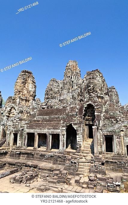 The Bayon temple, Angkor Thom, Angkor, Siem Reap, Cambodia