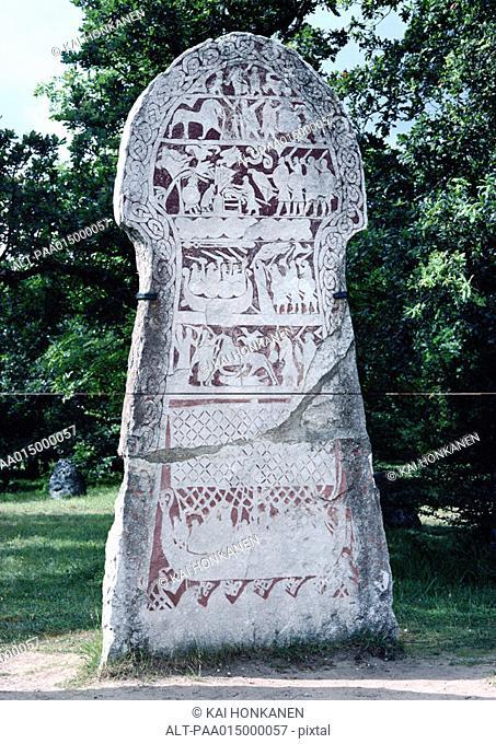 Sweden, Gotland, Lärbro, Odin ritual stone
