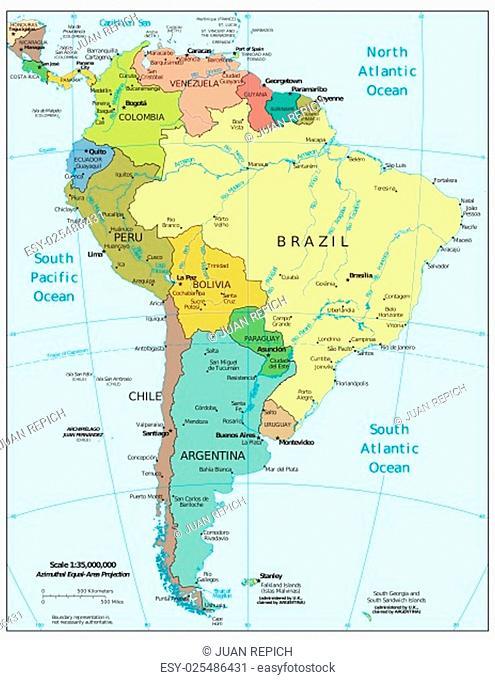 South America region map