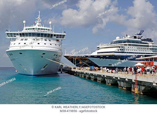 Cruiseships in Cozumel, Mexico. Quintana Roo. Mexico. 2004