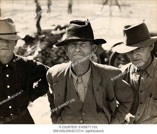 Ex-tenant farmer on relief grant in the Imperial Valley, California. After four years of Roosevelt's New Deal Farm policies were initiated during his First...