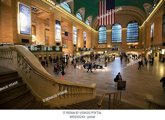 Interior of Grand Central Station, New York City. USA