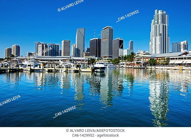 Bayside Market Place, marina and downtown, Miami, Florida, United States of America, USA