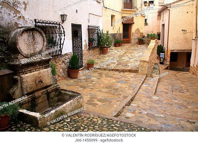 Bocairent street, Valencia province, Comunidad Valenciana, Spain