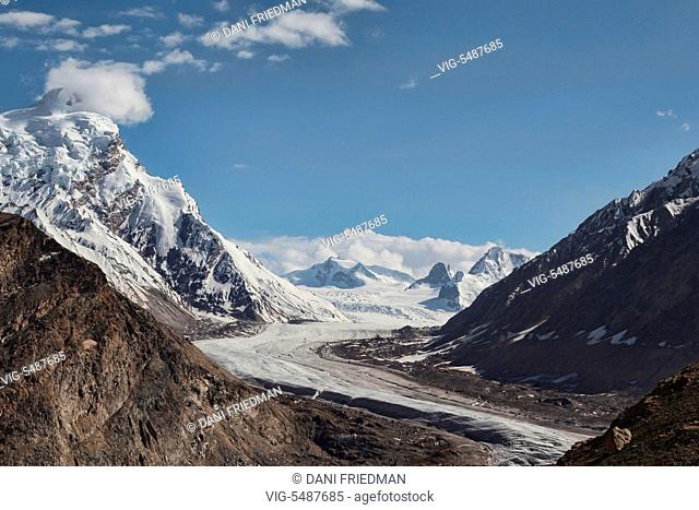 The magnificent Nun Kun Glacier located in the Suru Valley in Zanskar, Ladakh, Jammu and Kashmir, India. Not far from the Indo-Pakistan border (line of control)