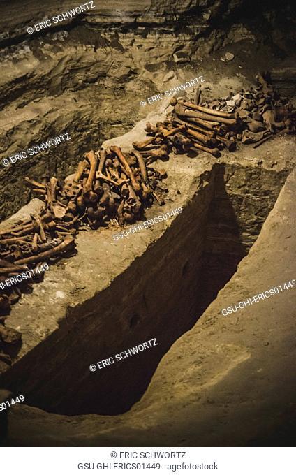 Roman Burial Catacombs Below Krka Monastery, Croatia