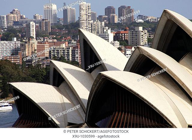 roof of the famous opera in Sydney, New South Wales, Australia