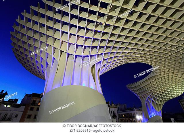 Spain, Andalusia, Seville, Metropol Parasol, wooden structure, JŸrgen Mayer-Hermann architect,