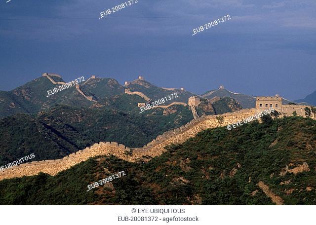 Great Wall of China Jinshanling section, Ming Dynasty 1368-1389, rebuilt 1567-70