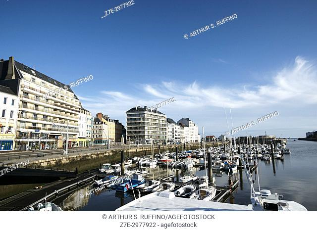 Quai de Caligny, Cherbourg-Octeville, Manche Department, Normandy, France, Europe