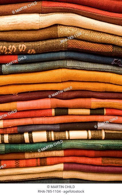 Colourful rugs for sale, Grand Bazaar Great Bazaar, Istanbul, Turkey, Europe