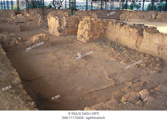 Greece - Peloponnesus - Pylos. Palace of Nestor. Remains. 1300-1200 b.C