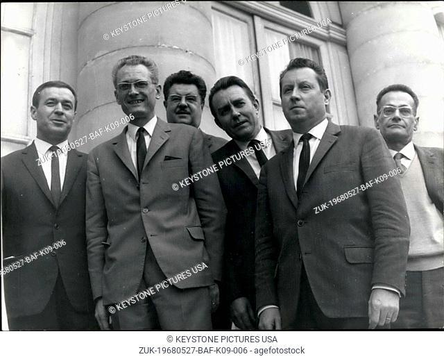 May 27, 1968 - National Education Federation Representative Maranger (Credit Image: © Keystone Press Agency/Keystone USA via ZUMAPRESS.com)