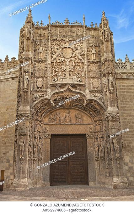 Front. San Gregorio college. Sculpture National Museum Valladolid. Valladolid. Castilla Leon. Spain.