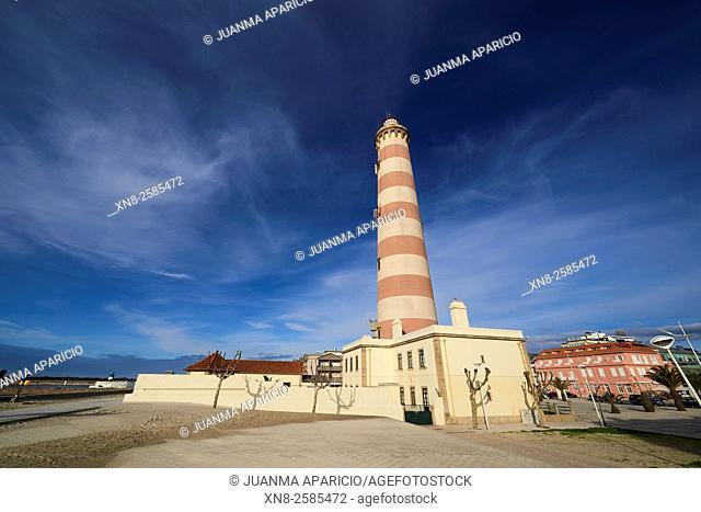 Lighthouse of Gafanha da Nazaré, Aveiro, Portugal, Europe