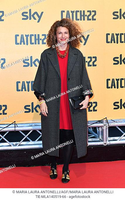 Ginevra Elkann during the Red carpet for the Premiere of film tv Catch-22, Rome, ITALY-13-05-2019
