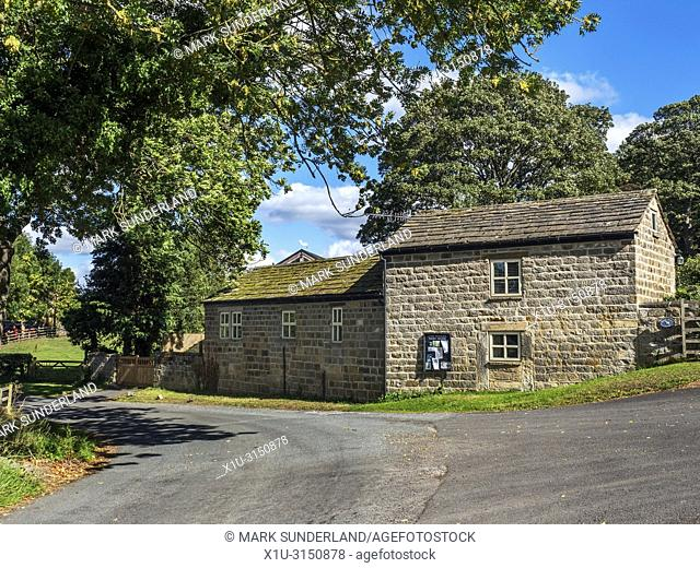 The vilalge of Castley near Pool in Lower Wharfedale North Yorkshire England