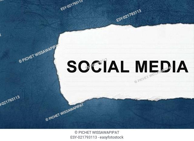 social media with white paper tears