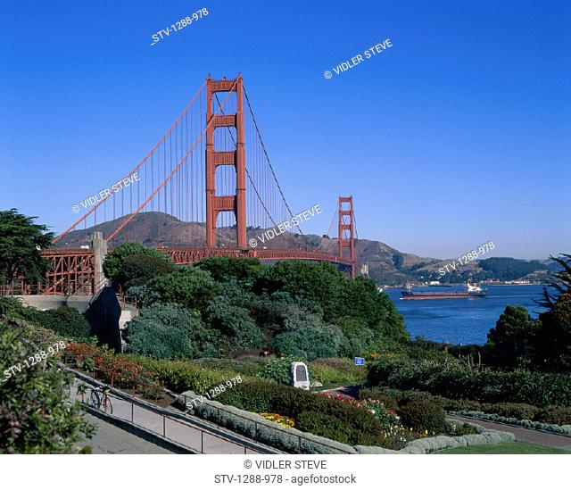 America, Barge, Boat, Bridge, California, Francisco, Gate, Golden, Holiday, Landmark, San, Tourism, Travel, United states, USA