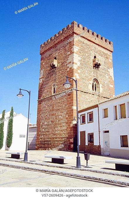 Don Juan de Austria tower. Alcazar de San Juan, Ciudad Real province, Castilla La Mancha, Spain