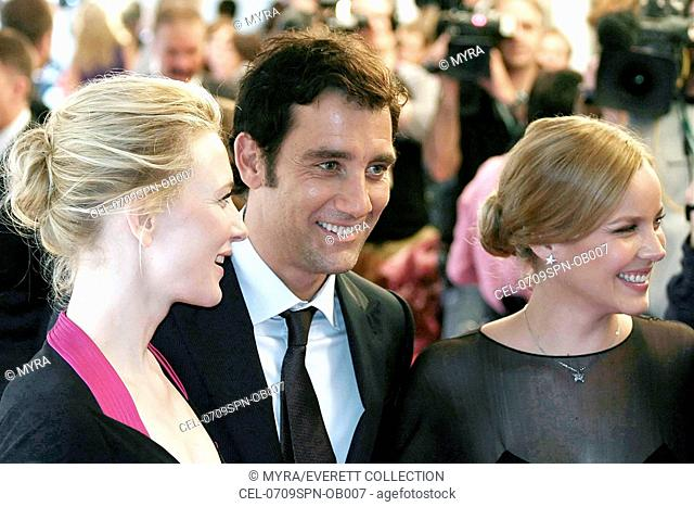 Clive Owen, Cate Blanchett, Abbie Cornish at arrivals for ELIZABETH: THE GOLDEN AGE Gala Premiere at the 32nd Annual Toronto International Film Festival