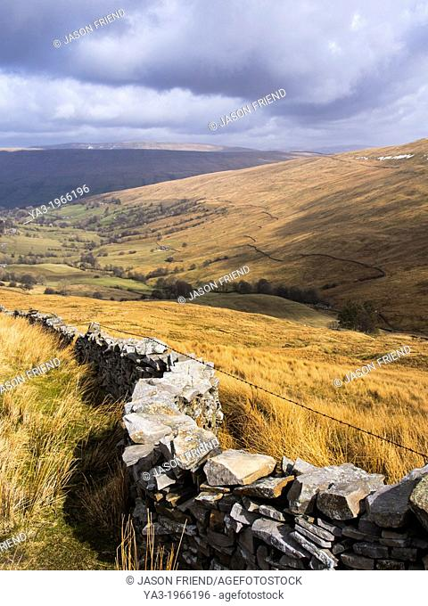 England, North Yorkshire, Yorkshire Dales National Park. Deepdale, a secluded valley in the Yorkshire Dales National Park near the village of Dent