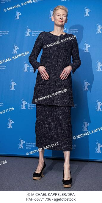 66th International Film Festival in Berlin, Germany, 11 February 2016. Photo call -Hail Ceasar!-: Tilda Swinton. The film is shown out of competition at the...