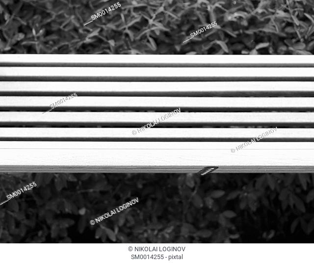 Horizontal minimalistic park bench backdrop hd