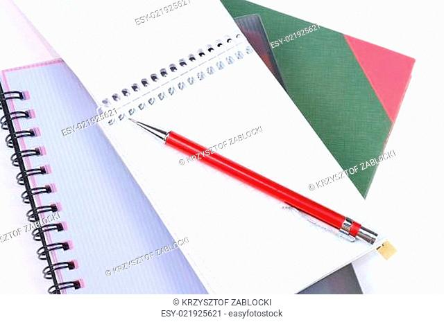 notebooks and pensils - school supplies