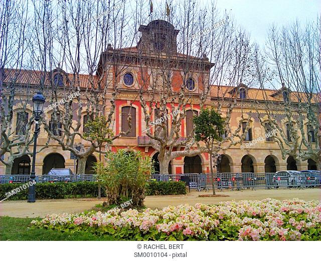 Catalan Parliament in Ciutadella park, Barcelona. Catalonia, Spain