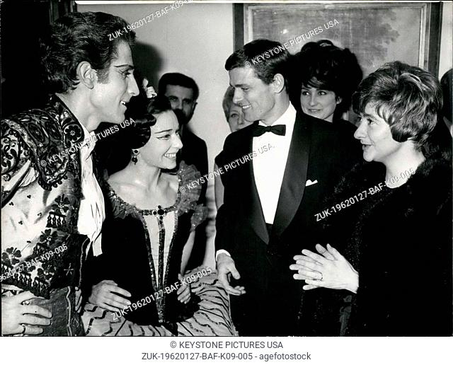 Jan. 27, 1962 - Since her recent marriage to Westhoff, Sagan has not appeared in public. Yesterday, at the Comic Opera the young couple made their first public...