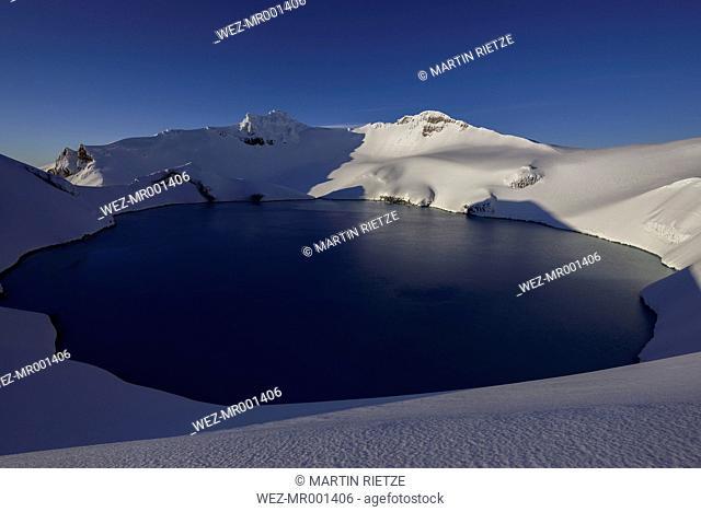 New Zealand, View of Ruapehu volcano