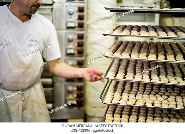'Carquinyolis' dry pastries. Minorca, Balearic Islands, Spain