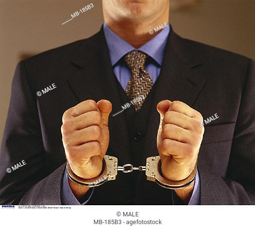 Businessman, Handcuffs, Detail