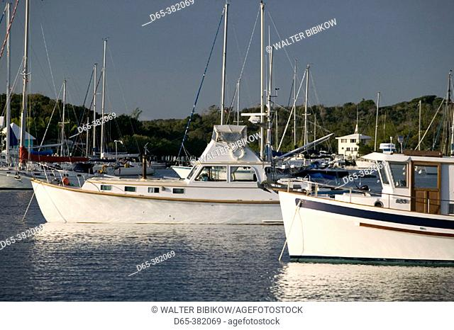 Bahamas, Abacos, 'Loyalist Cays , Elbow Cay', Elbow Cay, Hope Town: Marina View
