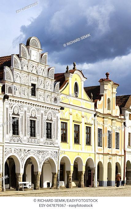 square in Telc, Czech Republic
