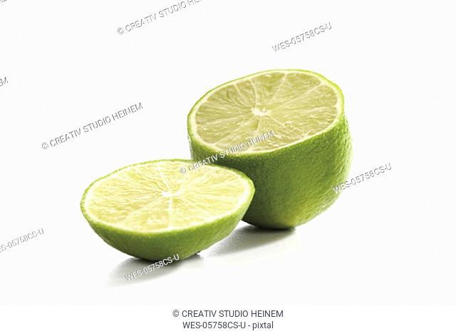 Sliced lime fruits, close-up