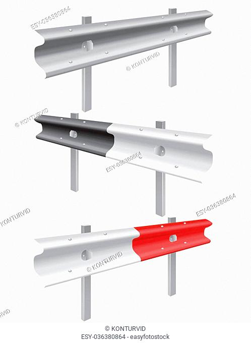 road barrier illustration isolated on white background