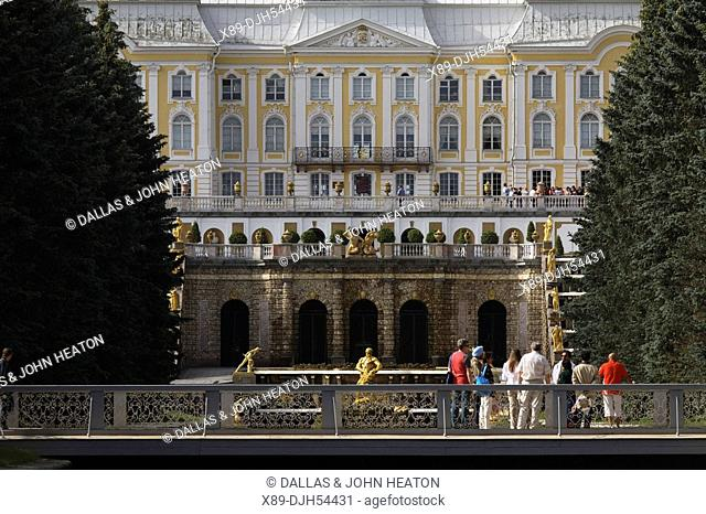 Russia, St Petersburg, Peterhof, Peter The Great's Palace, Petrodvorets