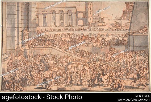 79b197699f1e01 Alexander Entering Babylon. Artist  Sébastien Leclerc I (French