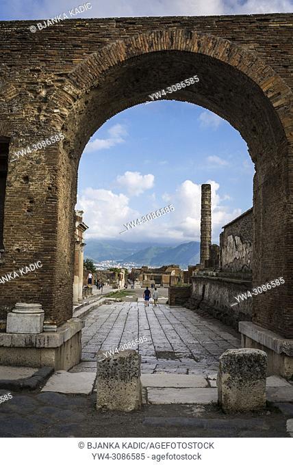 Pompeii, archeological site near Naples, Italy