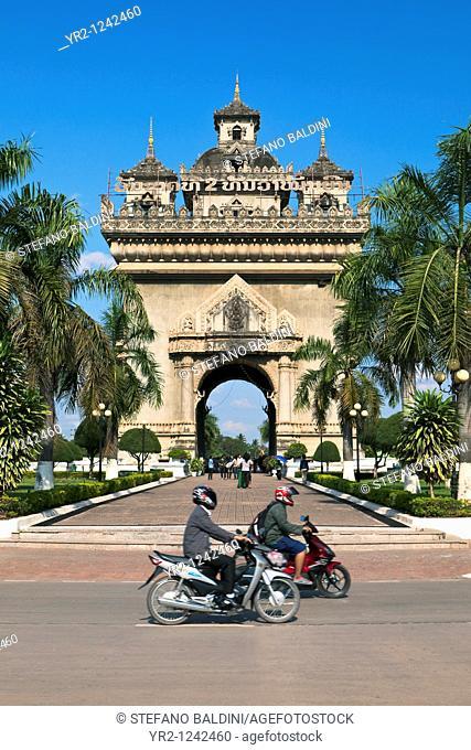 Patuxai Triumphal Arch, Vientiane,Laos