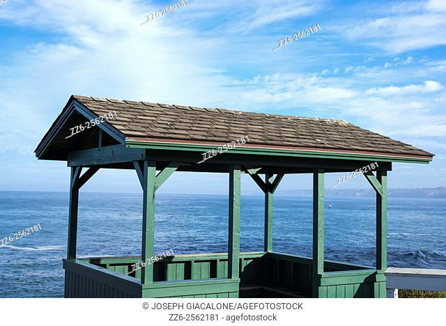Lookout hut, ocean, coastal. La Jolla, California, United States