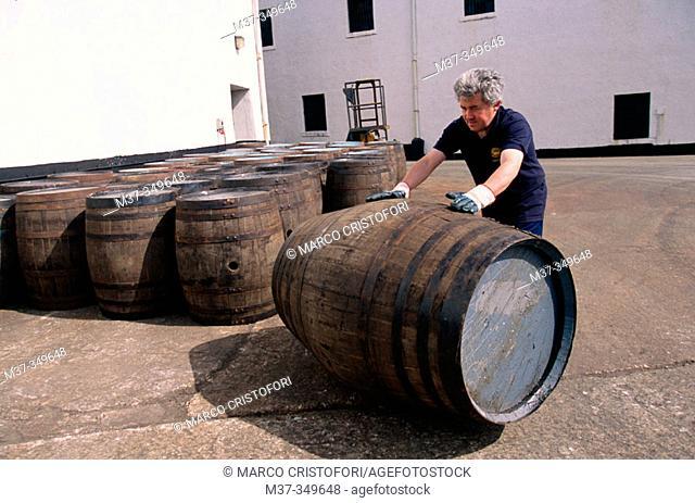 Lagavulin whisky distillery. Islay island. Scotland. UK