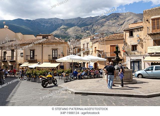 Piazza Margherita, Castelbuono, Sicily, Italy
