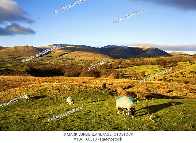 View to the Howgill Fells from Garsdale Yorkshire Dales England