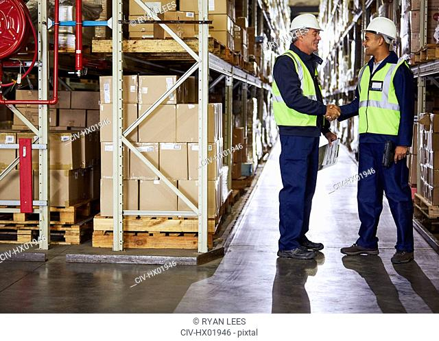 Manager and worker handshaking in distribution warehouse