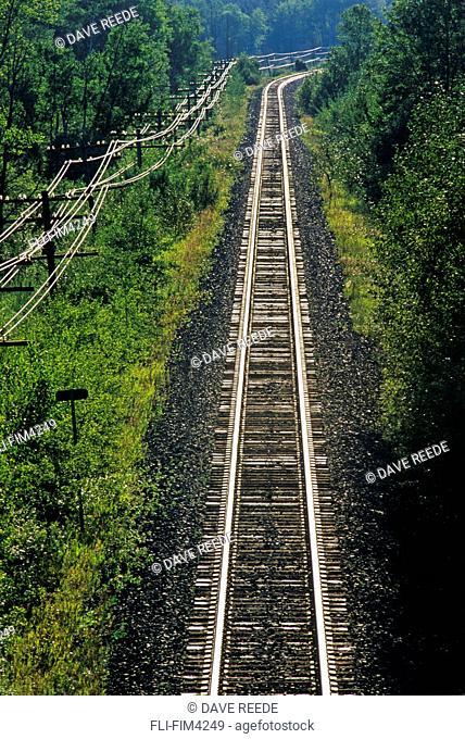 Railway, near Rennie, Manitoba