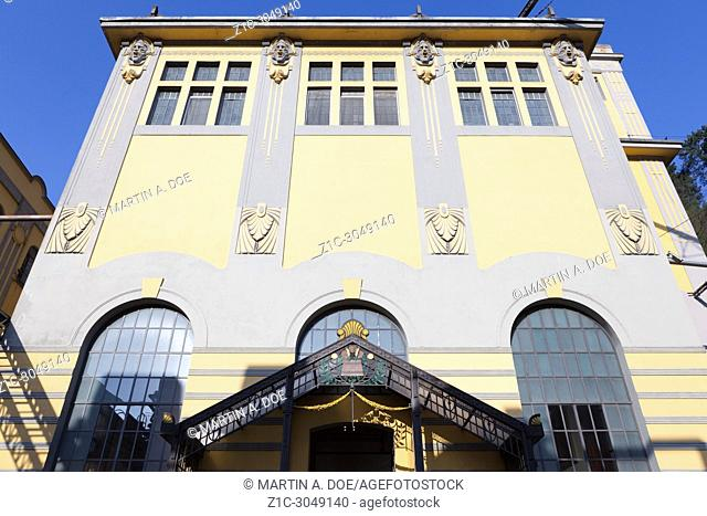 The brewhouse of Birrificio Angelo Poretti (Angelo Poretti Brewery) was built in 1908. The project was designed by Bihl and Woltz Architecture Studio