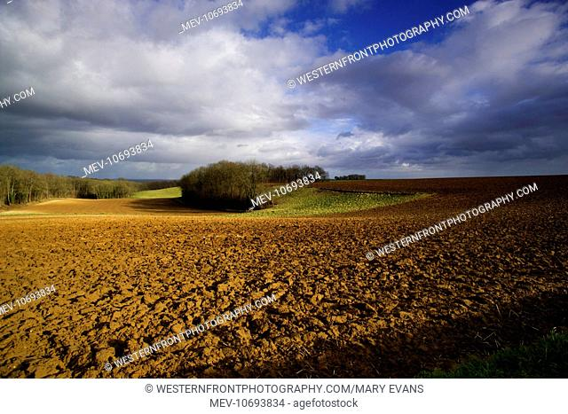 Landscape shots on the Soissons plateau on road to Noyon